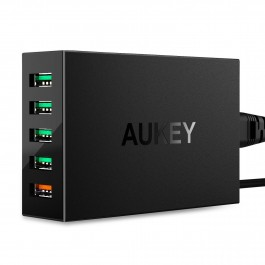 Aukey 5-Port Charging Station with Quick Charge 3.0